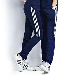 Wholesale Drawstring Skinny Pants - Wholesale-2016 Men Track Pants Couples Casual Pants Men Skinny Tracksuits Bottoms Men Trousers Sportswear Male Joggers Moletom 3XL 4XL 50