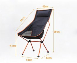 Wholesale Camping Beach Chair - Wholesale-2016 new Portable Ultralight Collapsible Moon Leisure Camping Chair with Bag for Outdoor Hiking Travel Picnic BBQ Beach Fishing