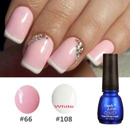 Wholesale French Nail Decals - Wholesale-Candy Lover DIY French Manicure Gel Polish Color Nail Gel Free French Manicure Strip Nail Art Finger Guides Stickers Nail Decals