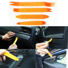 Wholesale carbon fiber car kits - Auto Car Radio Panel Door Clip Panel Trim Dash Audio Removal Installer Pry Kit Repair Tool 4pcs Portable Practical