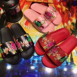 Wholesale Beach Decorative - 017 new women's slippers, pure color flower pattern rivets, 5 decorative soft, comfortable soles, home ladies style