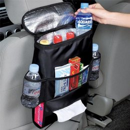 Wholesale Cares Car Seat - 1 Pcs Auto Care Car Seat Organizer Cooler Bag Multi Pocket Arrangement Bag Back Seat Chair Car Styling Seat Cover Organiser