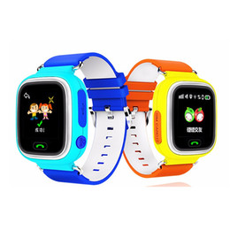 Wholesale Monitor Positioning - Colorful touch screen kids gps Tracker GPS Kid Positioning WIFI smart watch Q90 SOS Smartwatch for IOS Android Lost Monitor