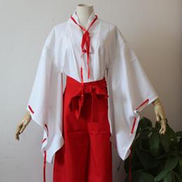 Wholesale Kikyo Costume - Inuyasha Cosplay Kikyo Costume Women's Dress Kimono Brand Name:BrdwnGender:Women