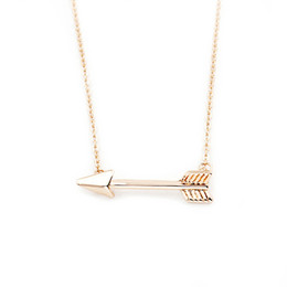 Wholesale Chain Choker Men - Wholesale 10Pcs lot Direct Selling 2017 Hip Hop Jewelry Pendant Simple Tiny Arrow Gold Chains Statement Necklace Men Women Choker Necklace