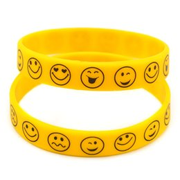 Wholesale Gift Service - Hot Sell 1PC Printed Logo Smile Face Silicone Bracelet Wristband, A Great for the Service Industry Promotional gift