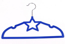Wholesale New Design Five Pointed Star velvet hangers for baby children kids small clothes Thin Space saving clothing hangers LLFA