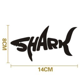 Wholesale Decal Shark - 1PC 14*8cm Shark Car Stickers Shark Mad Fish Fishing CarStyling Vinyl Decal for Truck Decor Car Door Body Car Accessories