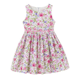 Wholesale Pale Pink Girls Dresses - 2017 INS baby girl toddler Kids Adults Summer clothes Pink Blue Rose Floral Vest Sleeveless Dress Jumper Jumpsuits Ruffle Pleated Waist