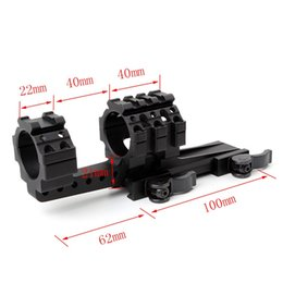 Wholesale long picatinny rail - Tactical scope mount 30mm offset QD ring picatinny weaver rail 162mm long hunting mount for rifle scope ht298