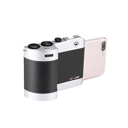 Wholesale Wb Wholesale - New Mobile Camera Selfie Handle Mobile DSLR Transform Shooting Controller for iPhone 6 Plus 7 Plus 6P 7P 8 ISO WB Adjustment