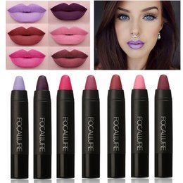 Wholesale Used 19 - Free shipping new brand Lipsticker focallure 19 colors matte lipstick waterproof long-lasting easy to use cosmetic lips gloss makeup nude