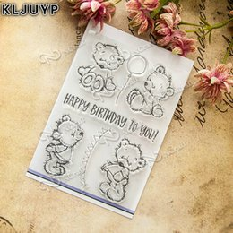 Wholesale Lovely Photo Albums - Wholesale- KLJUYP Lovely Bear Transparent Clear Silicone Stamp Seal for DIY scrapbooking photo album Decorative clear stamp sheets