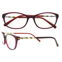 Wholesale Bamboos Wipes - Stereoscopic bamboo shape metal Glasses Frames never fade Vintage Classic Ultra-light and slim Eyeglasses Frames Eyewear