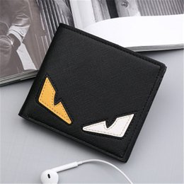 Wholesale Mens Personality - 2017 small monster eyes wallet Mens short cross section of the youth personality soft wallet tide fashion wallet