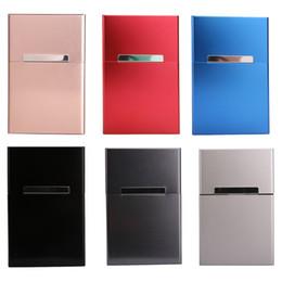 Wholesale Smoking Accessories Case - Light Aluminum Cigar Cigarette Case Tobacco Holder Pocket Box Storage Container New Smoking Accessories