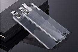 Wholesale brown vs black - Soft TPU Screen Protector Film Clear Protection Film Front Cover vs Tempered Glass Screen Protectors