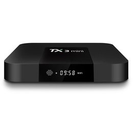 Lecteur multimédia multimédia en Ligne-20pcs TV BOX TX3 Mini 1 Go 8 Go Quad Core Amlogic Smart Box S905W Android 7.1 Support de lecteur multimédia Wifi DLNA 3D