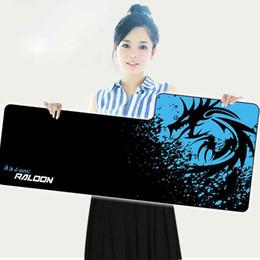 Jogo especial on-line-880X380mm tamanho Grande mouse pad e dragão azul design de borracha anti-slide teclado do computador pad, escritório e jogo em casa especial