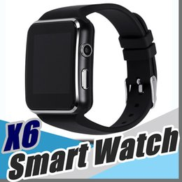 Wholesale Curve Mobile - 20X Curved Screen X6 Smartwatch Smart watch bracelet Phone with SIM TF Card Slot with Camera for Samsung LG All Android Mobile Phone L-BS