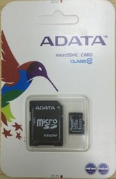 Wholesale Sd Card Blister Packaging - 2017 Hot selling ADATA 32GB 64GB 128GB Micro SD SDHC Memory Card SD Adapter Blister Package Class 10 TF Card for Android Smart Phones