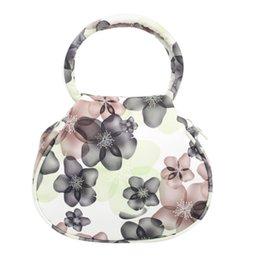 Wholesale Trendy Wholesale Handbags - Wholesale- Classic National Women Flower Print Leather Handbag Tote Fashion Trendy Women Wedding Party Purse Mini Makeup Bags