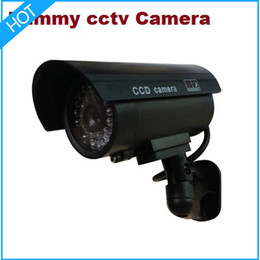 Wholesale Home Security System Cctv - LED IR Dummy Camera   Fake Camera Indoor for home security cctv system infrared CCTV wireless  bullet camera