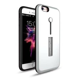 Wholesale Iphone5 Case Metal - For Samsung Galaxy Note8 S7 S8 Plus iPhone8 7plus 6s plus iPhone5 5S 2in1 Hybrid Rugged Armour Case With Metal Kickstand PC+TPU Shockproof