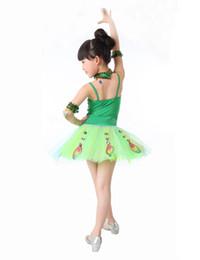 Wholesale Tutus Latin - 2016 Children Girls Ballet Dress Latin Dance Performance Wear Stage Sequin Sparking Party Dress Tutu Costume Clothing