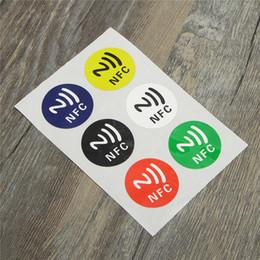 Wholesale Nfc Tags Key - 18pcs lot NFC Tags Stickers Ntag213 13.56mhz Label Rfid Tag Card Adhesive Key Tags llaveros llavero Token Patrol N