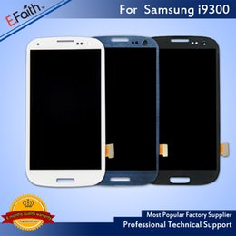 Wholesale S3 Screens - All Tested Black White Blue LCD Screen Replacement For Samsung Galaxy S3 LCD Full Assembly For Samsung S3 LCD No Frame Free Shipping
