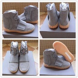 Wholesale Suede Ankle Boots Low Heel - cheap wholesale Boost 750 Blackout Outdoors Sneaker,discount Light Grey Glow In The Dark Kanye West Leather 750 Boots Skateboard Shoes
