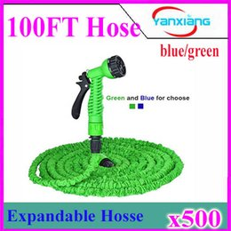 Wholesale Flexible Water Bag - 100FT Expandable Flexible Garden Water Pocket Hose With Spray Good Nozzle Head opp bag by DHL 500pcs ZY-SG-01
