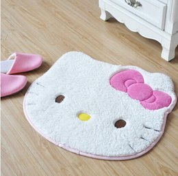 Wholesale Carpet Padding Sizes - Cute Gifts Hello Kitty Head Shaped Plush Rug Doormat Mat Pad Carpet Size : 23' x 19' (60cm x 50cm)
