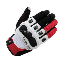 Wholesale rs taichi gloves - New Original RS TAICHI RST412 Motorcycle Gloves off-road half leather Motocross racing gloves Casco Full Finger Guantes
