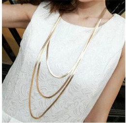 Wholesale Tibet Bone Necklace - Metal snake bone three layers deserve to act the role of han edition of the new long necklace sweater chain chain of luxury decoration
