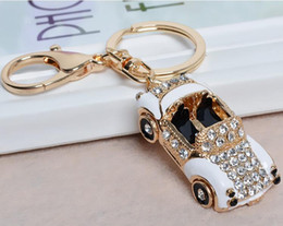 Wholesale Diamond Key Chain Crystal - diamond Roadster Sports Car Crystal HandBag Pendant trendy Keyring Keychain For Car Purse Bag Buckle key holder Key Chains K164