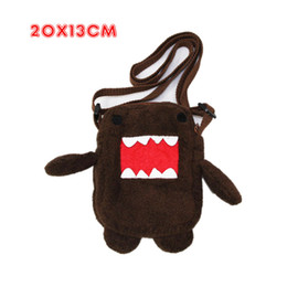 Wholesale Domo Kun Plush Bag - Kawaii Domo Kun Stuffed Toys Japan Domokun Plush Funny Domo-Kun Shoulder Bags Plush Toys Birthday Gift Domo Kun Plush