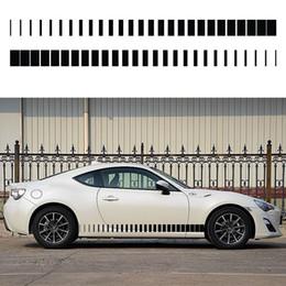 Wholesale Sticker Light For Car Window - Exterior Accessories Car Stickers 2x Tapered Stripe (one for each side) Vinyl Decal Hood Door Window Car Sticker Van Truck Vehicle