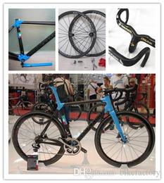 Wholesale Complete Carbon Bikes - Blue colnago c60 Carbon complete Road Bike Parts Road Bikes Sale+ black 50mm Carbon Wheelset handlebar A01