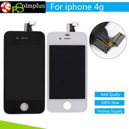 Wholesale Iphone4 Lcd Replacement Screen - Black White For iPhone 4 Screen Assembly Touch Digitizer LCD screen for iphone4 display Frame Pantalla Replacement