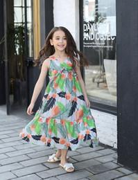 Mejores vestidos de novia chica online-2017 Best Selling Summer Dress For Girls vestido de dibujos animados para niños ropa para la fiesta de la princesa fiesta de bodas bebé niño