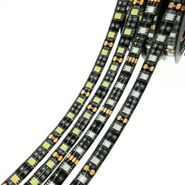 Wholesale Yellow Flexible Pcb - 2017 high quality LED Strip 5050 Black PCB DC12V Flexible LED Light 60 LED m 5m lot RGB 5050 LED Strips 5m lot