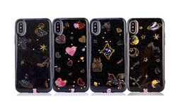 Wholesale Moon Earth - Colorful Bling Outer Space Earth Moon Stars Soft TPU Silicone Case For Iphone X 8 7 Plus 6 6S Love Heart Black Clear Cover Skin Fashion 2017