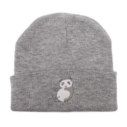 Wholesale Panda Knitted Hat - Fashion Style Hat Ladies Spring and Autumn Knitted Warm Hat Lovely Animal Panda Embroidery Beanies Cap Men's Winter Hat Gorro