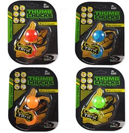 Wholesale Ball Big - 50PCS Hot Thumb Chucks Yoyo LED Light BEGLERI Flashing Finger Extreme Movement Plastic Juggling Ball Anti Stress Spinner Retail Package