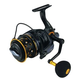 Wholesale Fake Fish - 14+1BB Surf Casting Spinning Reel For Big Fish Metal Spool Long Shot Wheel Fishing Reels TK8000 9000 Series