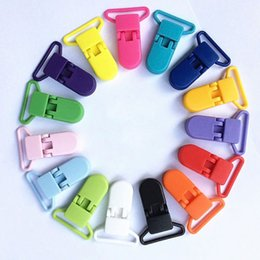 Wholesale Suspenders Plastic Clips - 2017 Colored Plastic Suspender Soother Pacifier Holder Dummy Clips For Babys