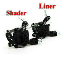 Wholesale Shader Coil - Black Tattoo Machine 10 Coil High Quality Tattoo Machines For Tattoo Needle Ink Cups Tips Kit Hot Sale Free Shipping
