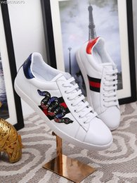 Wholesale Top Sport Shoes Designer Brands - Famous Brand Designer Fashion Women Men Lace-Up Flat Shoes Top Quality Genuine Leather Lovers Casual Shoes Luxury Sport Sneakers